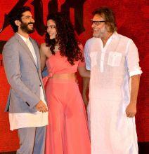 Harshvardhan Kapoor, Saiyami Kher and Rakeysh Omprakash Mehra at Mirzya music launch