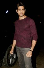 Sidharth Malhotra at Baar Baar Dekho screening