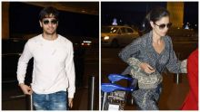 Sidharth Malhotra and Katrina Kaif at Mumbai international airport