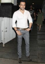 Emraan Hashmi, outside Hakkasan, one of Mumbai's most popular Chinese restaurants.