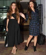 Malaika Arora Khan and Amrita Arora, spotted outside Royal China. The restaurant in Bandra West serves authentic Chinese food, with emphasis on Cantonese cuisine.