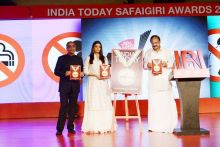 Aishwarya Rai Bachchan, Aroon Purie and Venkaiah Naidu
