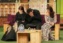 Anushka Sharma, Karan Johar, and Aishwarya Rai