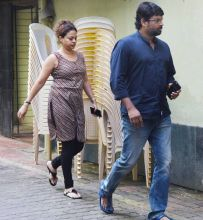 R Madhavan and Sarita Birje at Shilpa Shetty's residence