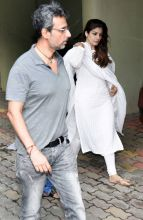 Raveena Tandon and Anil Thandani at Shilpa Shetty's residence