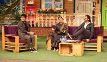 Vidya Balan and Arjun Rampal seem to be enjoying shooting for TKSS.