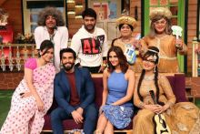 Ranveer Singh, Vaani Kapoor with The Kapil Sharma Show team