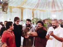 Amitabh Bachchan with Mammootty, Prabhu and Jayaram