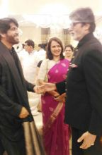 Akkineni Nagarjuna, Amala Akkineni with Amitabh Bachchan