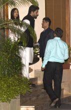 Aishwarya Rai Bachchan, Abhishek Bachchan and Manish Malhotra.