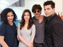Gauri Shinde, Alia Bhatt, Shah Rukh Khan and Karan Johar