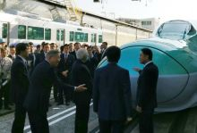 PM at Kawasaki Plant ahead of the planned Mumbai-Ahmedabad high speed rail project in collaboration with Japan.