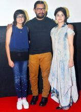 Aamir Khan with his Dangal girls