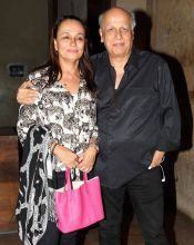 Mahesh Bhatt and Soni Razdan at Dear Zindagi screening