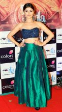 Rubina Dilaik who won the award for Best Actress Jury for her role in Shakti Astitva Ke Ehsaas Ki dazzled in this blue and green outfit with chunky earrings.