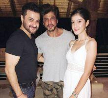 Sanjay Kapoor, Shah Rukh Khan and Shanaya Kapoor