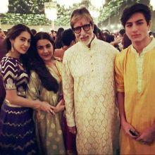 Sara Ali Khan, Amrita Singh, Amitabh Bachchan and Ibrahim Ali Khan