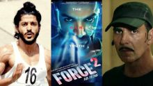 (L to R) Bhaag Milkha Bhaag, Force 2 and Baby