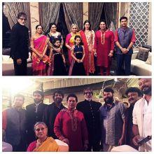 Amitabh Bachchan, Jaya Bachchan, Sachin Tendulkar and wife Anjali Tendulkar