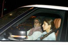 Amitabh Bachchan with Shweta Nanda