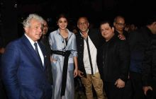 Anushka Sharma with designer Rohit Gandhi, and other guests at Van Heusen + GQ Fashion Nights 2016.