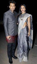 Naamkarann actress Barkha Bisht was seen with his popular TV actor hubby Indraneil Sengupta.