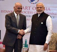 Ashraf Ghani and PM Modi