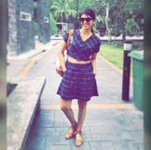 Kishwer's cool, calm and carefree pose.