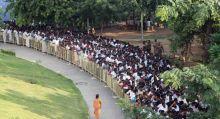 People outside Raja ji Hall.