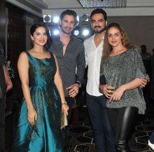 Sunny Leone and her husband Daniel Weber was spotted hanging with Esha Deol and her husband Bharat Takhtani at Govinda's birthday bash.