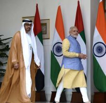 """PM Modi said he had """"fruitful and productive"""" discussions with the UAE leader."""