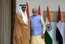 During the crown prince's visit, India and the UAE signed pacts to increase economic cooperation between the two countries.