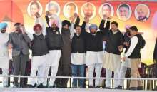 The rally was attended by senior Punjab Congress leaders, including the newly-inducted Navjot Singh Sidhu.
