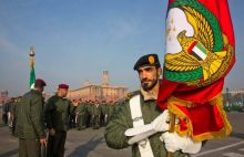 UAE soldiers rehearse for India's 68th Republic Day