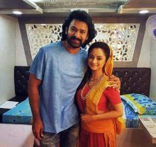 Madirakshi Mundle with Prabhas