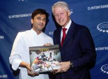Vikas Khanna has time and again thanked ex-President Bill Clinton for his friendship with India and her people. The chef gifted a copy to the American leader.