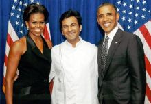 Chef Vikas Khanna presented a copy of Utsav to ex-President Barack Obama, and the ex-First Lady, Michelle Obama, in 2015.