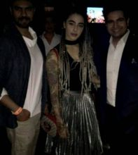 Bani Judge, Gaurav Chopra and Karan Mehra looked really excited to catch up.
