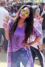 Krystle D'souza is completely drenched in the spirits of Holi.