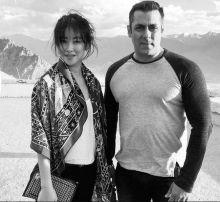 Salman Khan and Zhu Zhu