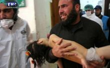 Syria gas attack injured girl