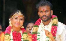 Vamsam actor Nandhini with her husband Karthikeyan