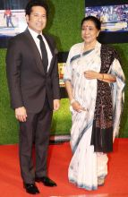 Sachin Tendulkar and Asha Bhosle