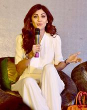 Shilpa Shetty was in the capital to speak at the Women Economic Forum.