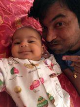 Chandan Prabhakar with daughter