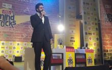 Abhishek Bachchan interacts with the audience at India Today Mind Rocks Bhopal 2017.