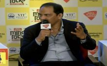 Mohammad Azharuddin speaks at India Today Mind Rocks Bhopal 2017.