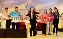 Bhumi Pednekar dances with the audience at India Today Mind Rocks Bhopal 2017.