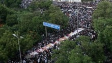 Karunanidhi's final journey: In pictures