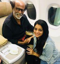 Rajinikanth with Janani Iyer